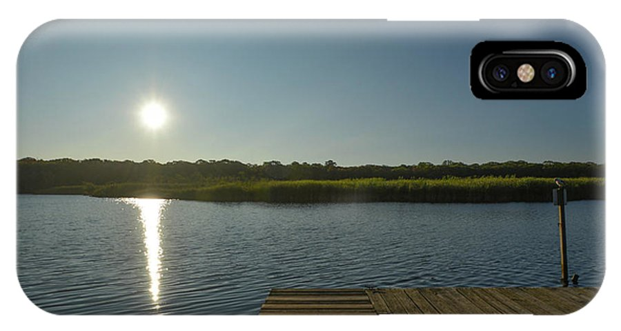 Marsh IPhone X Case featuring the photograph View Of The Marsh by Joan D Squared Photography