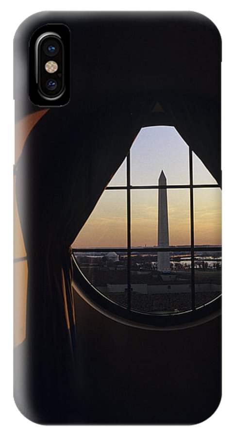Americana IPhone X Case featuring the photograph View Of The Washington Monument by Kenneth Garrett