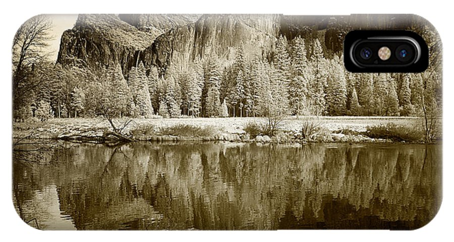 Yosemite IPhone X Case featuring the photograph View Of Yosemite by American School