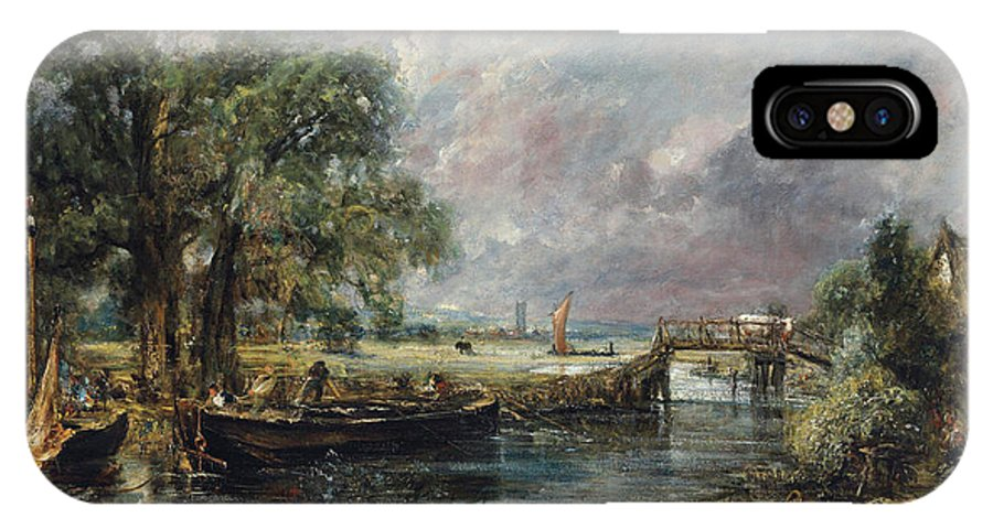 Constable IPhone X Case featuring the painting View On The Stour Near Dedham by John Constable