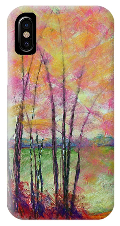 Edison IPhone X Case featuring the painting View Through Bamboo by Laurie Paci
