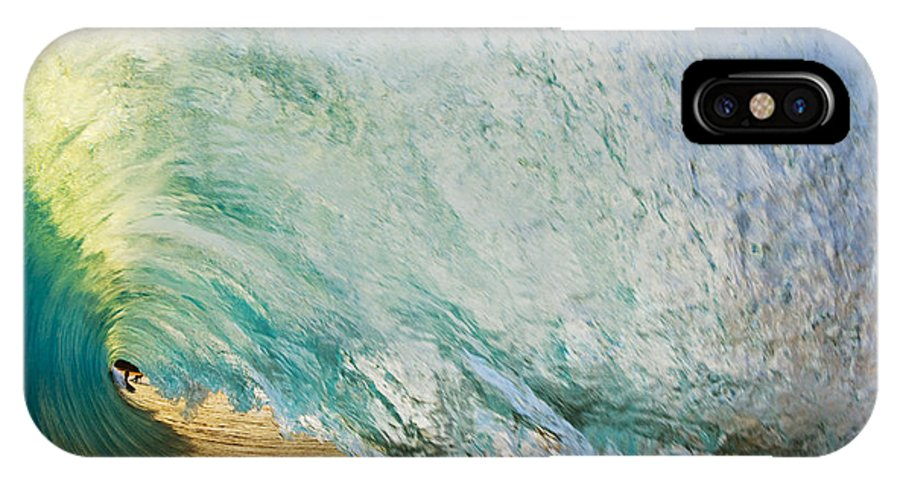 Amazing IPhone X Case featuring the photograph View through Wave Tube by MakenaStockMedia