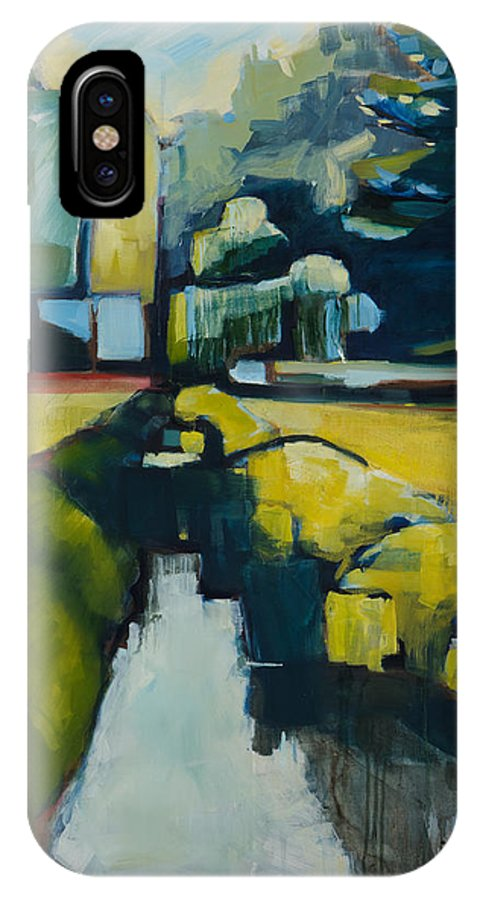 Contemporary Landscape IPhone X Case featuring the painting Viewpoint by Michele Norris