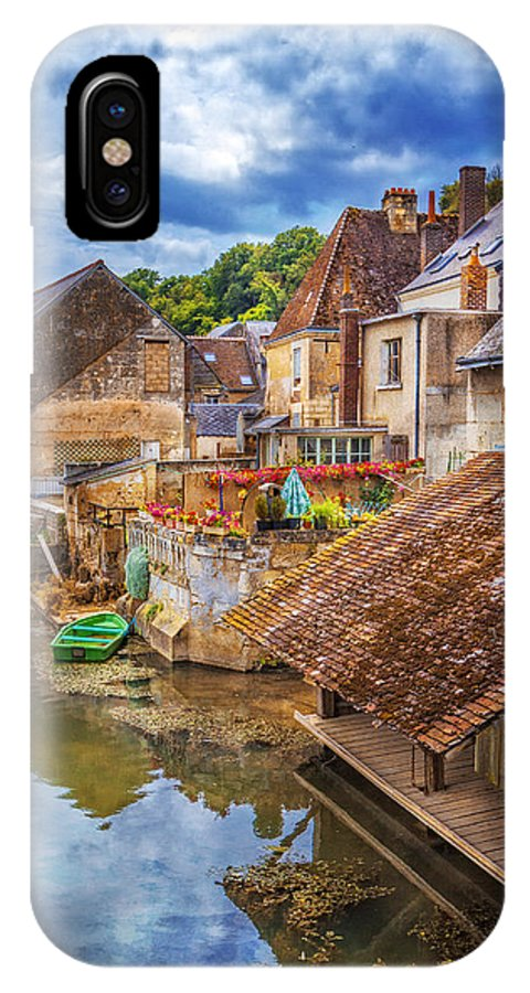 Austria IPhone X Case featuring the photograph Village At The River by Debra and Dave Vanderlaan