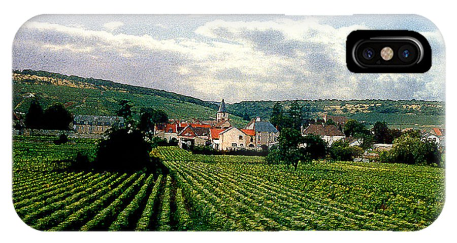 Vineyards IPhone Case featuring the photograph Village In The Vineyards Of France by Nancy Mueller