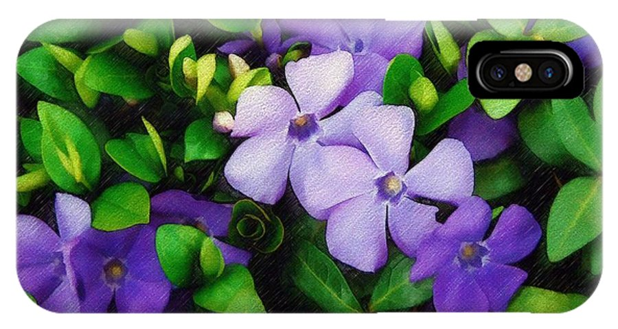 Vinca IPhone Case featuring the photograph Vinca by Sandy MacGowan