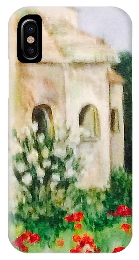 Landscape IPhone X Case featuring the painting Vincent's Asylum by Denise Mc Nellis