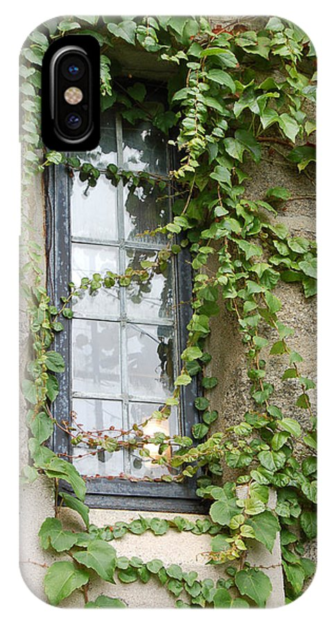 Window IPhone X Case featuring the photograph Vine-covered Mysteries I by Suzanne Gaff