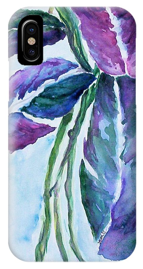 Landscape IPhone X / XS Case featuring the painting Vine by Suzanne Udell Levinger