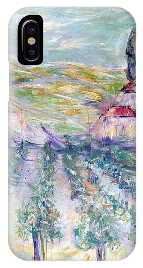 Vineyard IPhone Case featuring the painting Vineyard by Jeanie Watson