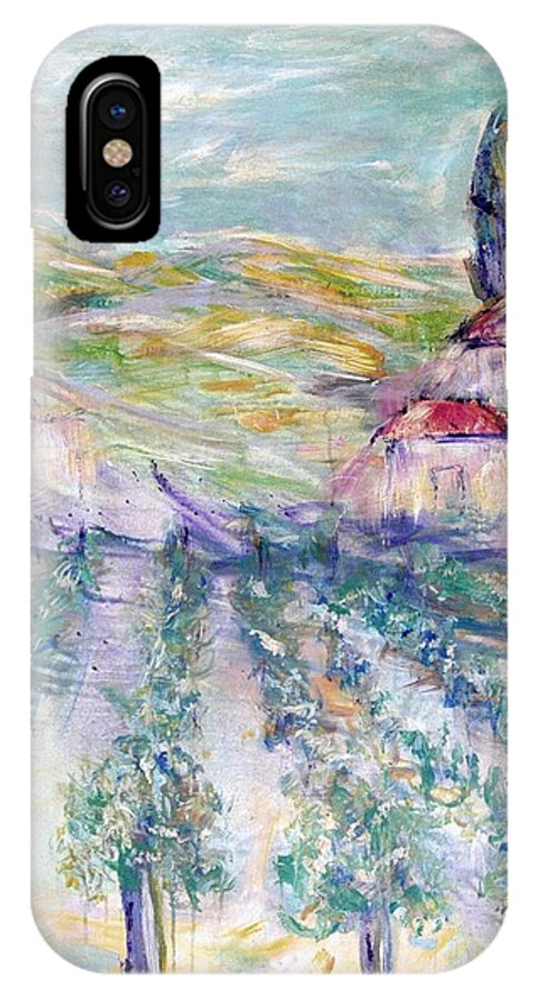 Vineyard IPhone X Case featuring the painting Vineyard by Jeanie Watson