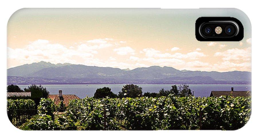 Lake Geneva IPhone Case featuring the photograph Vineyard On Lake Geneva by Jeff Barrett
