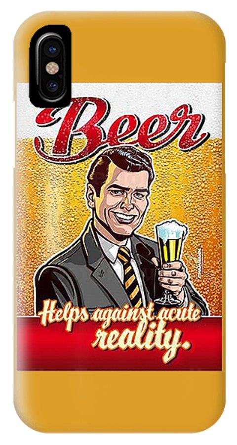 Vintage Beer Advert IPhone X Case featuring the digital art Vintage Beer Advert by Marlene Watson