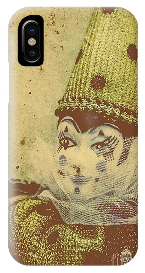 Vintage IPhone X Case featuring the photograph Vintage Circus Postcard by Jorgo Photography - Wall Art Gallery