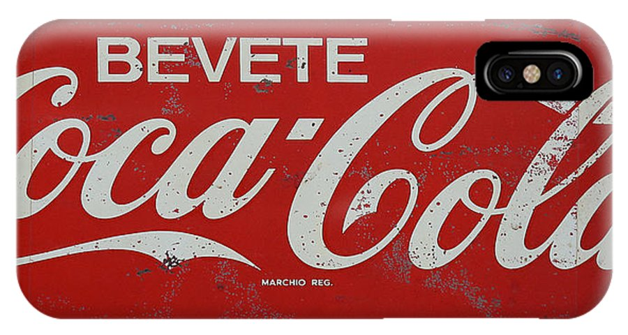 Coke IPhone X Case featuring the photograph Vintage Coca Cola Sign by Andrew Fare