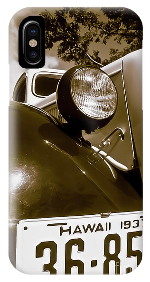 1937 Ford IPhone Case featuring the photograph 1937 Ford Pickup Truck Maui Hawaii by Jim Cazel