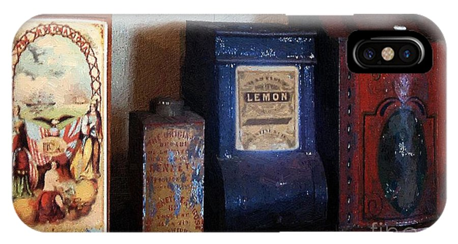 Americana IPhone X Case featuring the painting Vintage Kitchen Magick by RC DeWinter