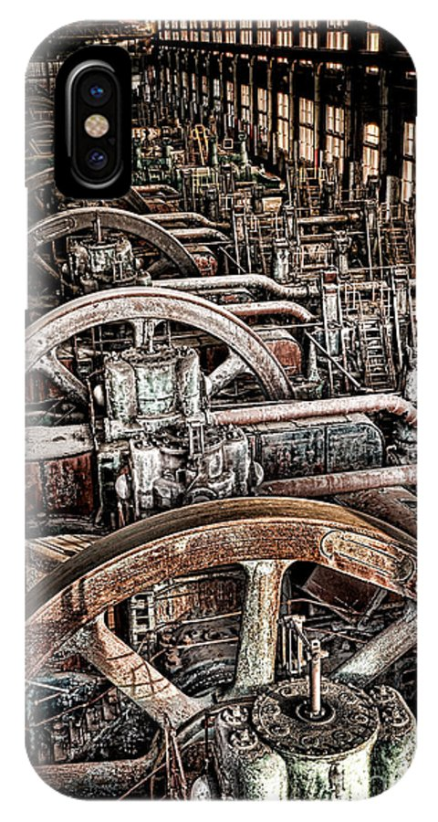 Bethlehem IPhone X Case featuring the photograph Vintage Machinery by Olivier Le Queinec