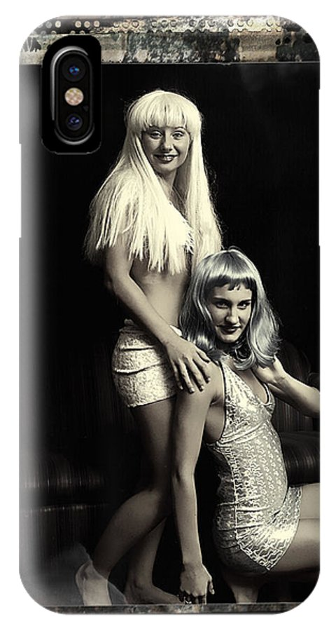 Clay IPhone X Case featuring the photograph Vintage Party Girls by Clayton Bruster