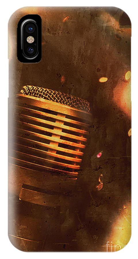 Sound IPhone X Case featuring the photograph Vintage Sound Check by Jorgo Photography - Wall Art Gallery