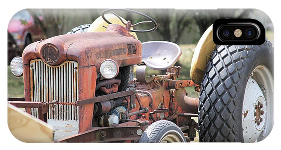 Vintage IPhone X Case featuring the photograph Vintage Tractor In Color by Denise Jenks