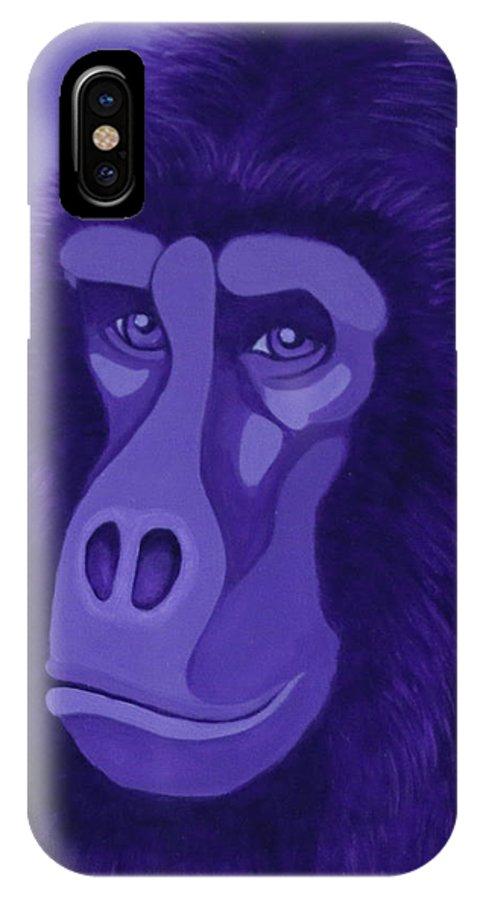 Violet Gorilla IPhone X Case
