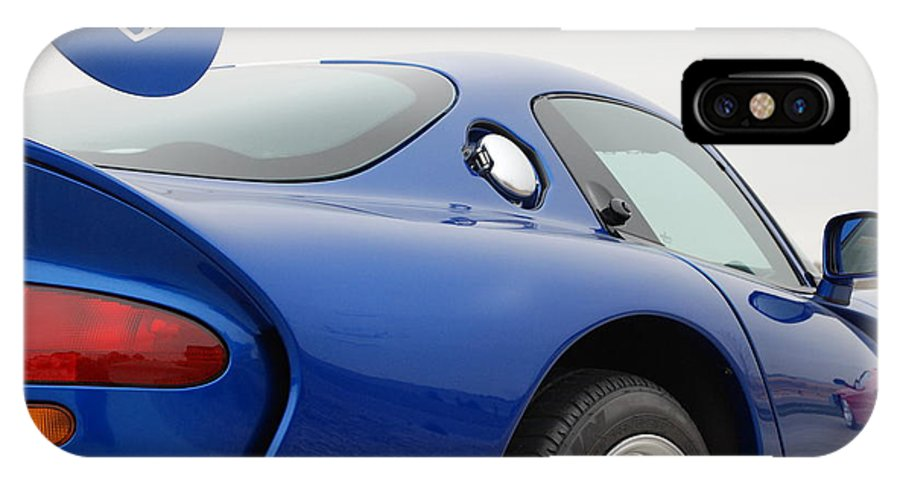 Wheels IPhone Case featuring the photograph Viper And Ferrari by Margaret Fortunato