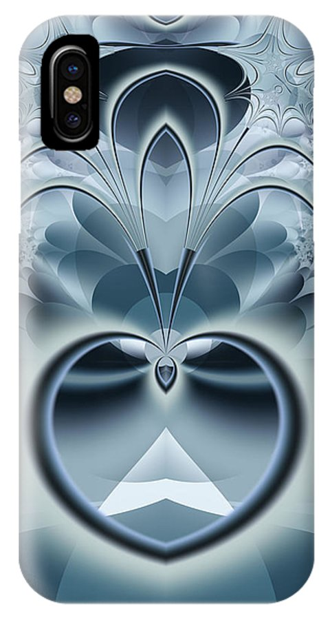 Fractal IPhone X Case featuring the digital art Vision by Frederic Durville