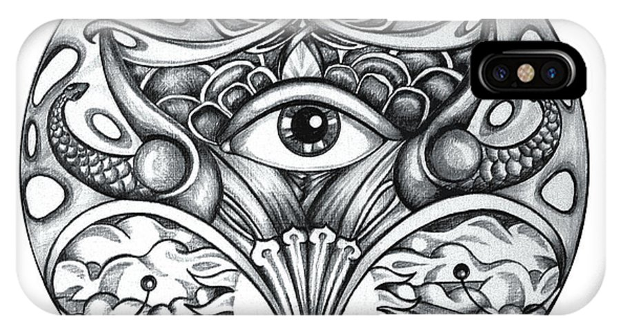 Eye IPhone Case featuring the drawing Vision by Shadia Derbyshire
