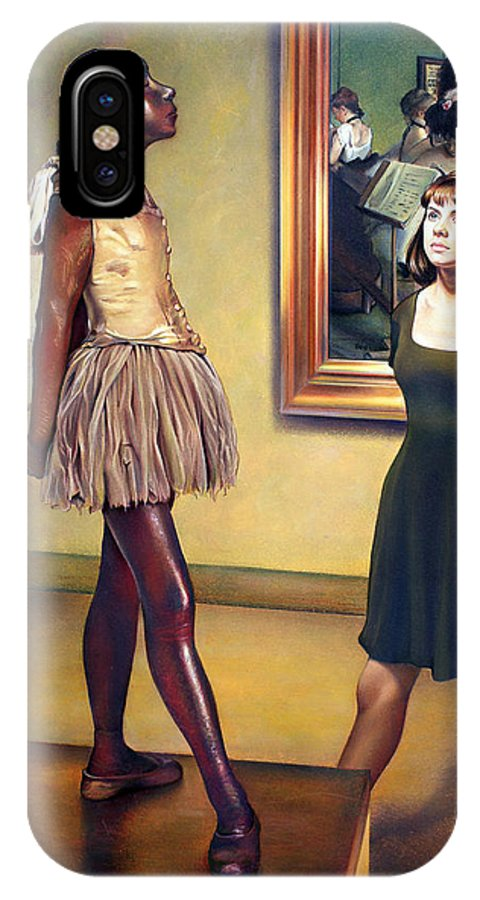 Edgar Degas IPhone X Case featuring the pastel Visit To The Museum by Patrick Anthony Pierson