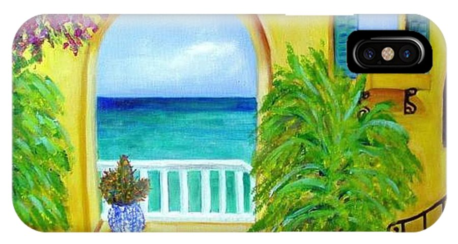 Patio IPhone Case featuring the painting Vista Del Agua by Laurie Morgan