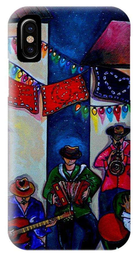 San Antonio IPhone X Case featuring the painting Viva La Musica by Patti Schermerhorn