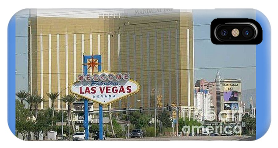 Vegas IPhone X Case featuring the photograph Viva Las Vegas by Barb Montanye Meseroll