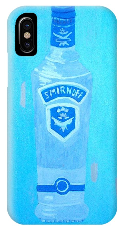 Pop Art IPhone X Case featuring the painting Vodka by Patrice Tullai