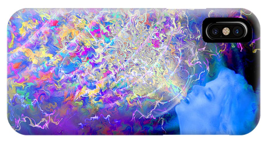 Voice IPhone X Case featuring the painting Voice by Robby Donaghey