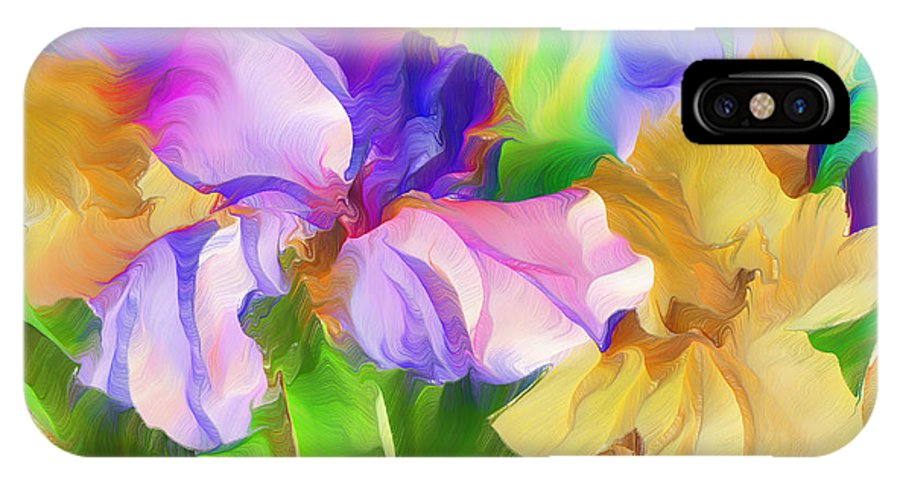 Expressionism IPhone X Case featuring the mixed media Voices Of Spring by Georgiana Romanovna
