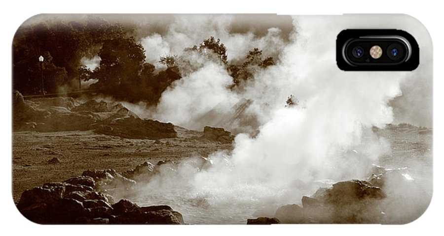 Azores IPhone X Case featuring the photograph Volcanic Steam by Gaspar Avila