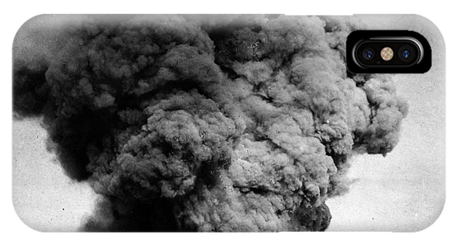 1910 IPhone X Case featuring the photograph Volcano: Java, 1910 by Granger