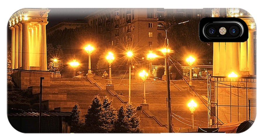 Volgograd IPhone X Case featuring the photograph Volgograd Riverside by Svetlana Sewell