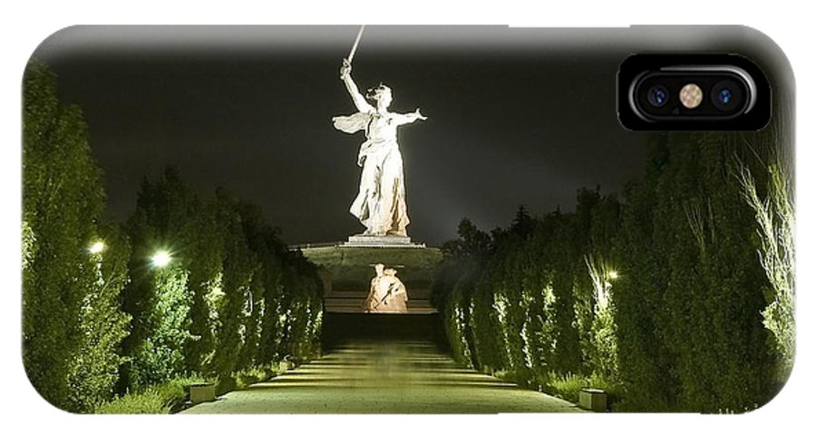 Architecture IPhone X Case featuring the photograph Volgograd1 by Svetlana Sewell