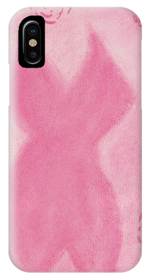 Pastel IPhone X Case featuring the pastel Voluptuous Silhouette by M Valeriano