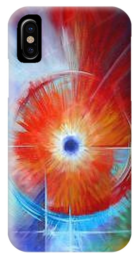 Clouds IPhone X Case featuring the painting Vortex by James Christopher Hill