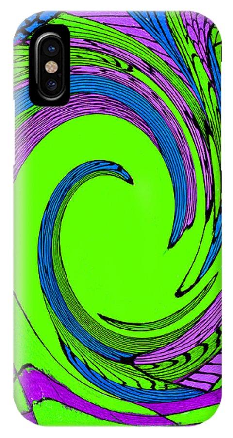 Vortex IPhone X Case featuring the painting Vortex by Wayne Potrafka