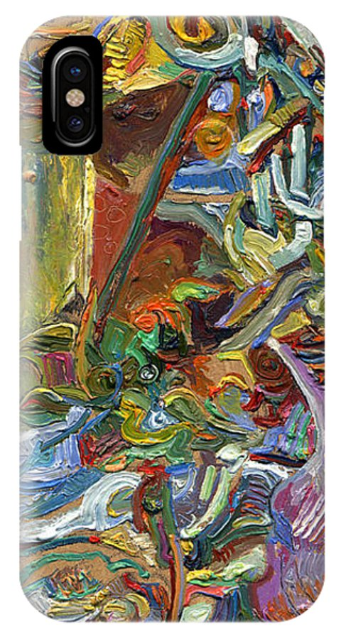 Color IPhone X Case featuring the painting Vsp Xvii With Buddha by Juel Grant