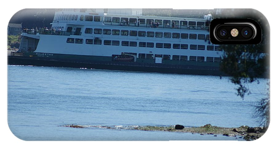 IPhone X Case featuring the photograph Wa State Ferry In Manchester by Michael Lancaster