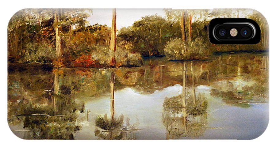 Waccamaw IPhone X Case featuring the painting Waccamaw River by Phil Burton