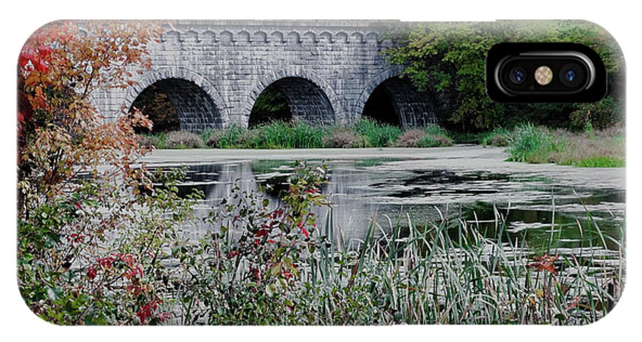 Wachusett Aquaduct IPhone X Case featuring the photograph Wachusett Aquaduct by Bill Dussault