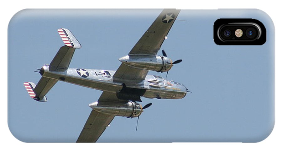 Air IPhone X Case featuring the photograph Wafb 09 B25 Mitchell Bomber 2 by David Dunham