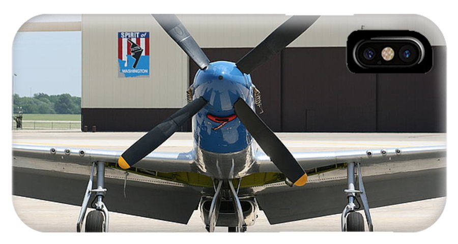 Airplane IPhone X Case featuring the photograph Wafb 09 P51 Mustang 2 - Darling Of The Sky by David Dunham