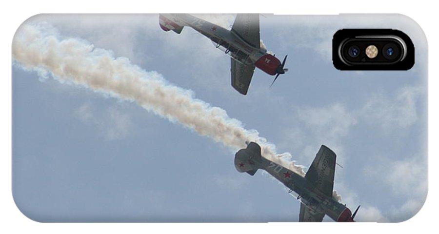 Air IPhone X Case featuring the photograph Wafb 09 Yak 52 Aerostar 7 by David Dunham